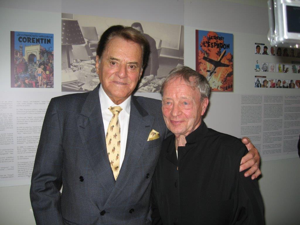 Raymond Leblanc et Guy Dessicy lors de l'inauguration de la fondation Raymond Leblanc en septembre 2006.